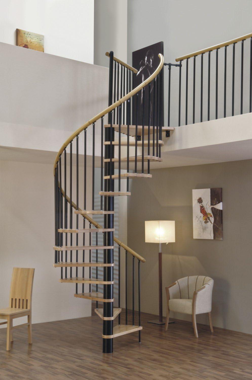 Huso de escalera/espacio de ahorro de escaleras de caracol Sidney Decor colour negro DM/120 cm: Amazon.es: Bricolaje y herramientas