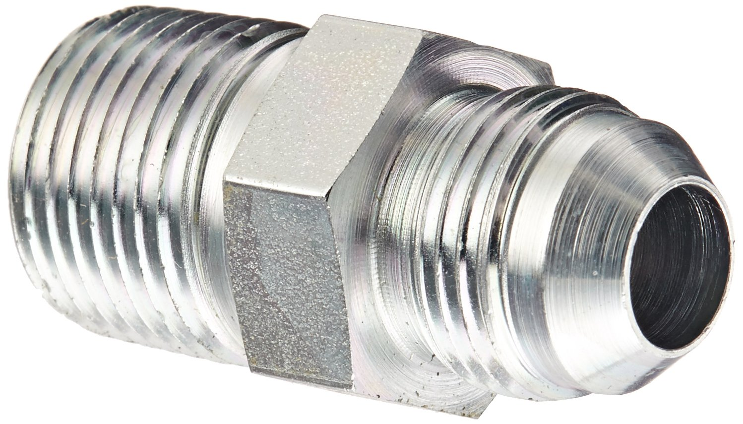 "Eaton Weatherhead C5205X8X8 Carbon Steel SAE 37 Degree (JIC) Flare-Twin Fitting, Adapter, 1/2"" NPT Male x 1/2"" JIC Male"