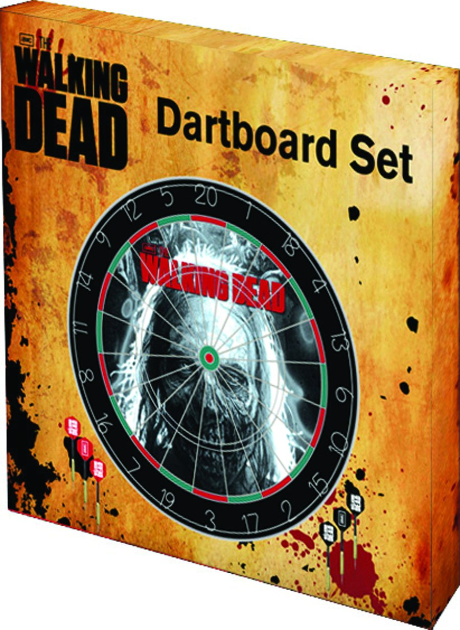 The Walking Dead Dart Board set