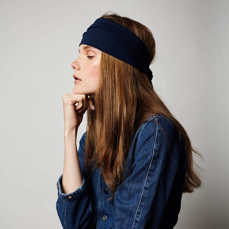 Running for All Head Sizes Tie Up Head Wrap Headband for Sports Yoga BLOM Beau Tie Adjustable Headband and Fashion.