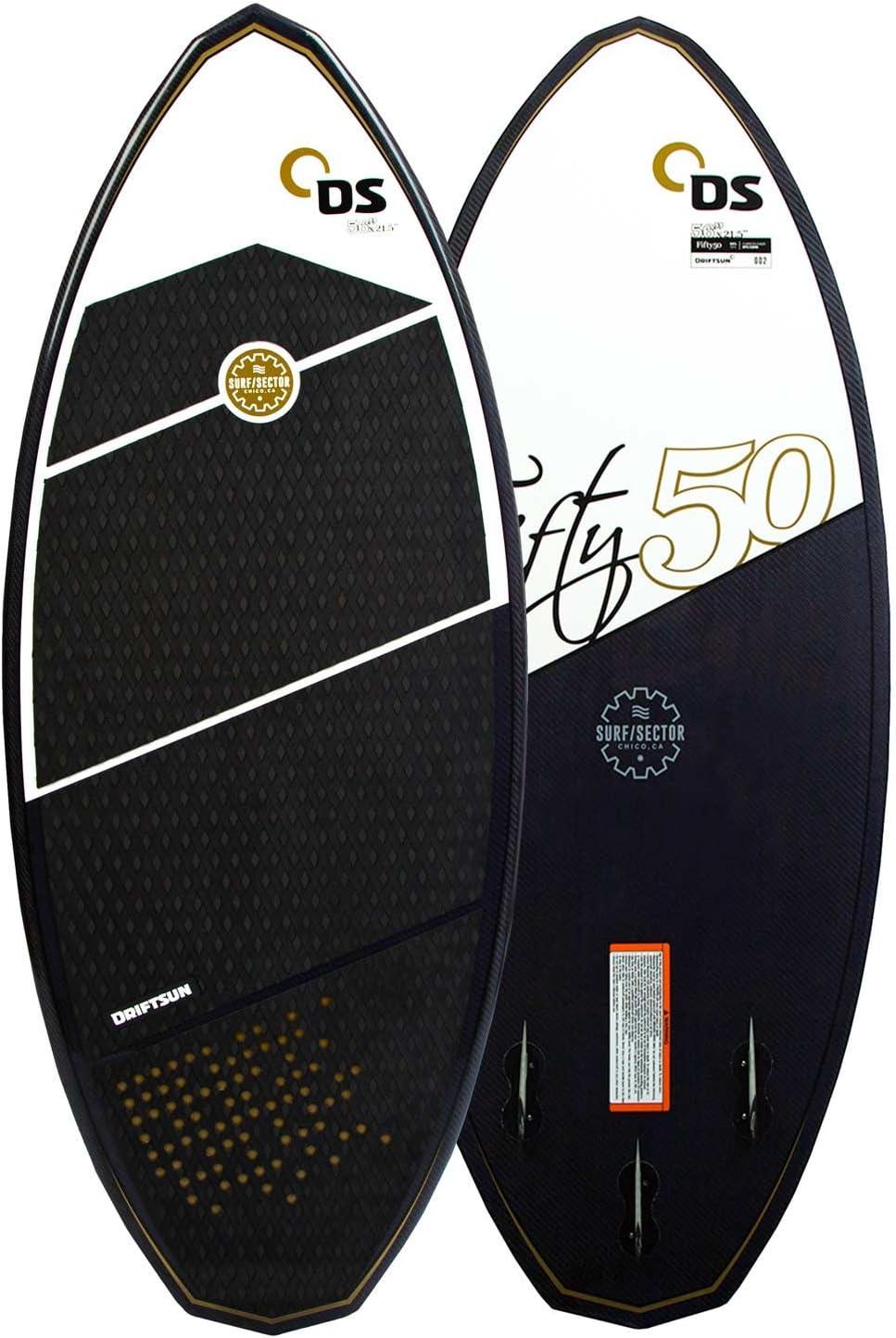 Driftsun Fifty-50 Wakesurf Planche de réveil Motif Skim sur Mesure 10,2 m 22,9 cm