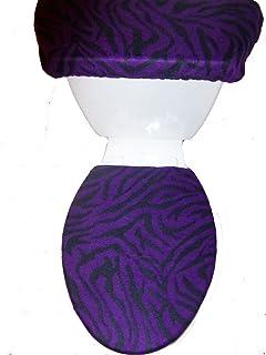 navy blue toilet seat cover. Purple and Black Zebra Stripes Print Fleece Toilet Seat Cover Set Amazon com  NAVY BLUE Fabric Bathroom