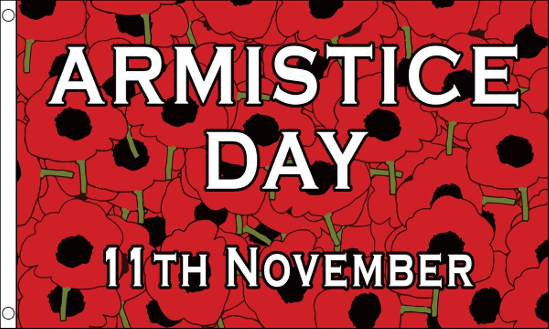 Armistice Day November 11th Poppy 5'x3' Banner Flag 1000 Flags Limited
