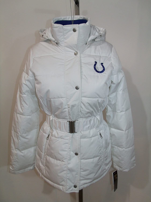 Indianapolis Coltsレディースホワイト断熱刺繍コートジャケットLarge   B00MI4U8RQ
