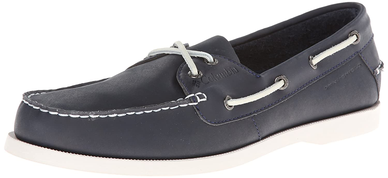 Columbia Perfect Cast Mens Rain  Stain Resistant Boat Shoes Abyss Gray