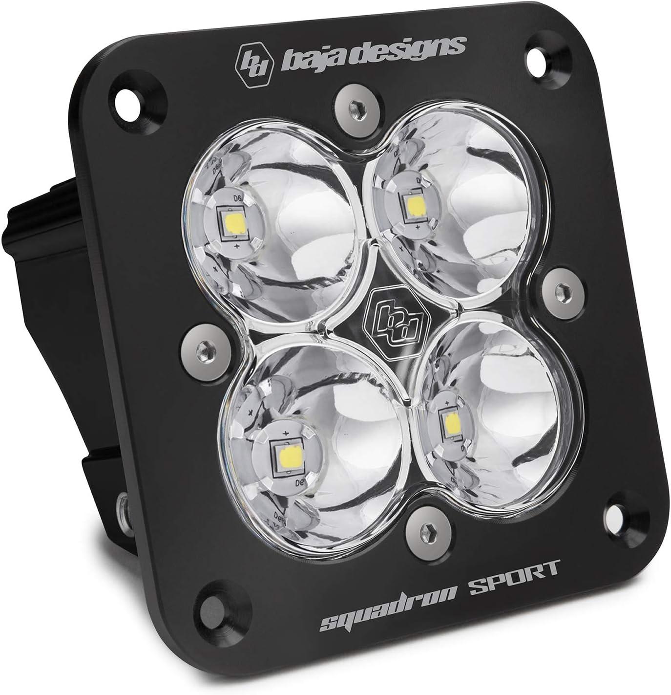 Clear Black Squadron Sport Baja Designs 551001 Flush Mount LED Spot Light