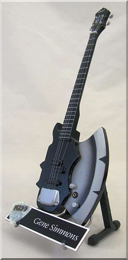 Gene Simmons miniatura Guitarra w/Nombre Kiss: Amazon.es ...
