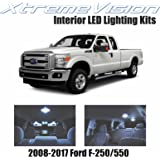 XtremeVision Ford F-250-550 2008-2017 (5 Pieces) Cool White Premium Interior LED Kit Package + Installation Tool