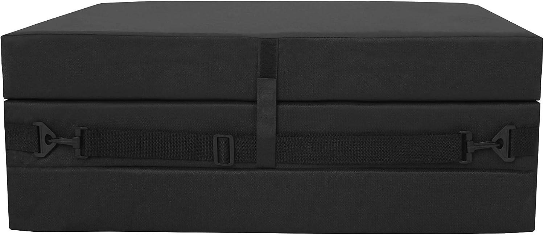 American Furniture Alliance Jr Twin Black Trifold Mattress, Mesh/Poly: Furniture & Decor