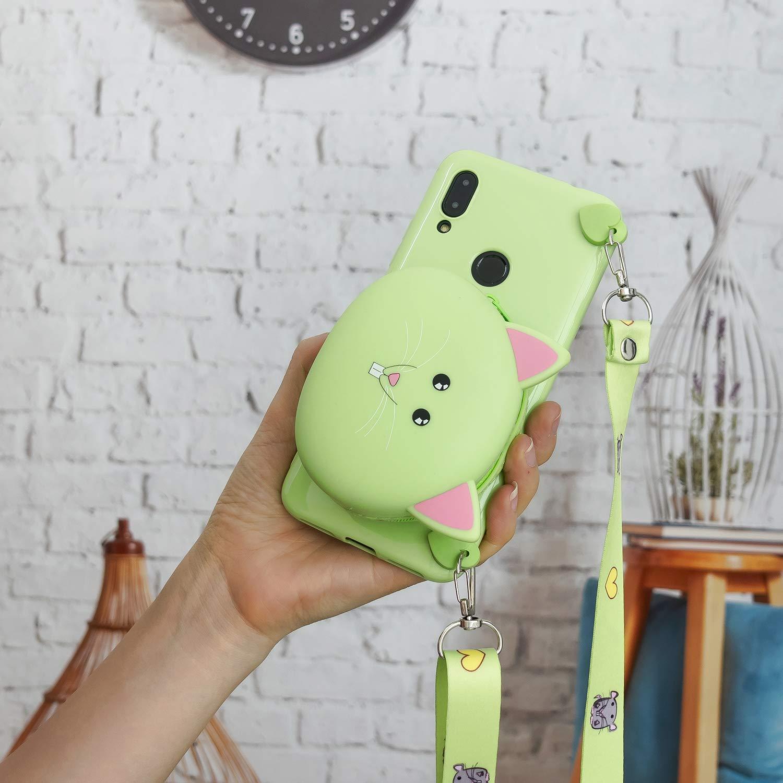 CoverTpu Funda Xiaomi redmi S2 Silicona 3D con Lanyard Billetera para Carcasa Xiaomi redmi S2 Funda Tapa Antigolpes Suave Ultrafina Flexible TPU Case Protectora Bumper Panda Blanca