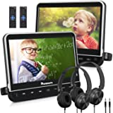 "NAVISKAUTO 10.1"" Dual Car DVD Players with 2 Headphones Support 1080P Video, HDMI Input, Sync Screen, AV Out & in…"