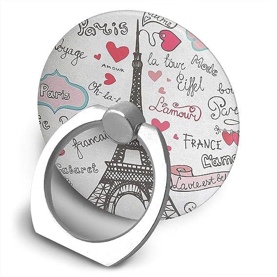 Amazon Paris Symbols Lettering Heart Phone Ring Stand Holder