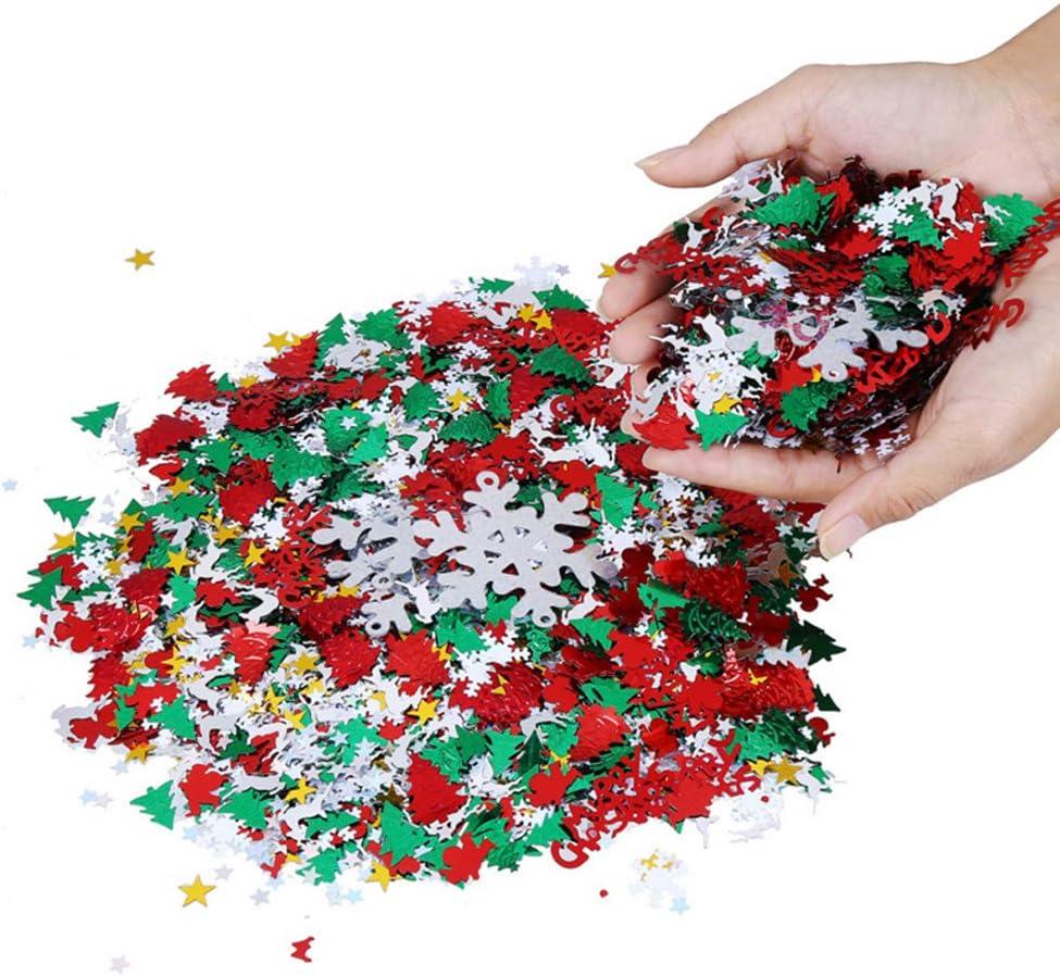 Confetti Di Natale Spruzza Confetti Di Natale Spruzza Coriandoli Della Tavola DellAlbero Di Natale Spruzza I Coriandoli Decorazione Della Tavola Di Coriandoli Per Forniture Per Decorazioni 1 Set 100g