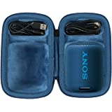 co2crea Hard Travel Case for Sony SRS-XB12 Extra Bass Portable Bluetooth Speaker (Black Case + Inside Blue)