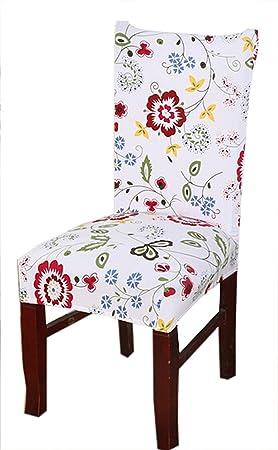 Protector de asiento SindeRay, elástico extraíble, lavable, funda protectora corta para silla de comedor: Amazon.es: Hogar