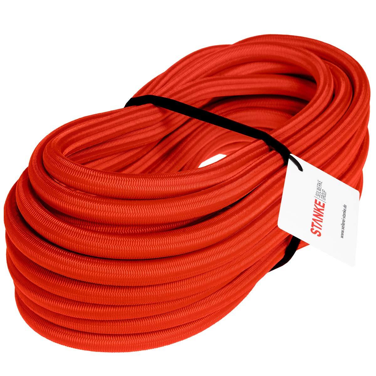 Gummileine Spannseil Planenseil Gummischnur Seilwerk STANKE Gummiseil Expanderseil Schwarz 4 mm 20 Meter