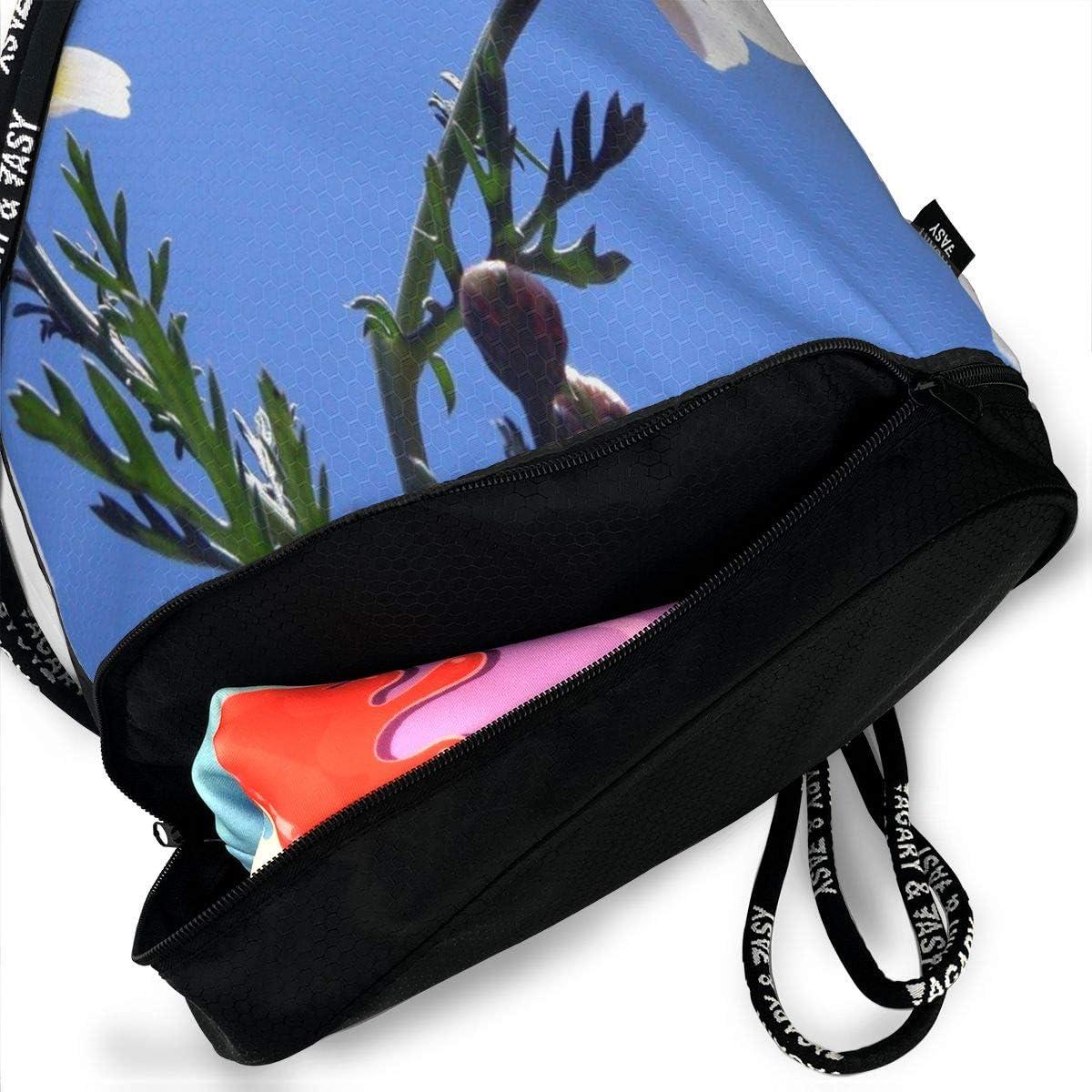 Drawstring Backpack Chrysanthemum Bags Knapsack For Hiking