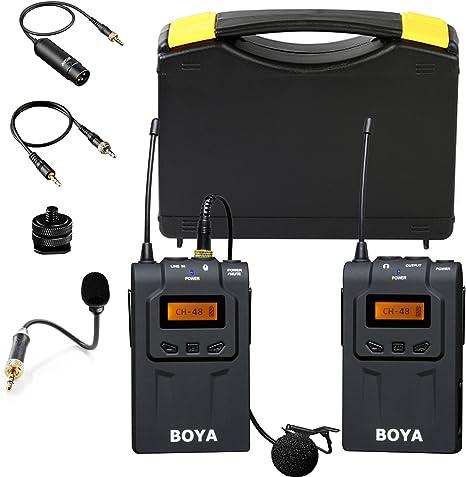 Sistema de micrófono lavalier inalámbrico omnidireccional ...