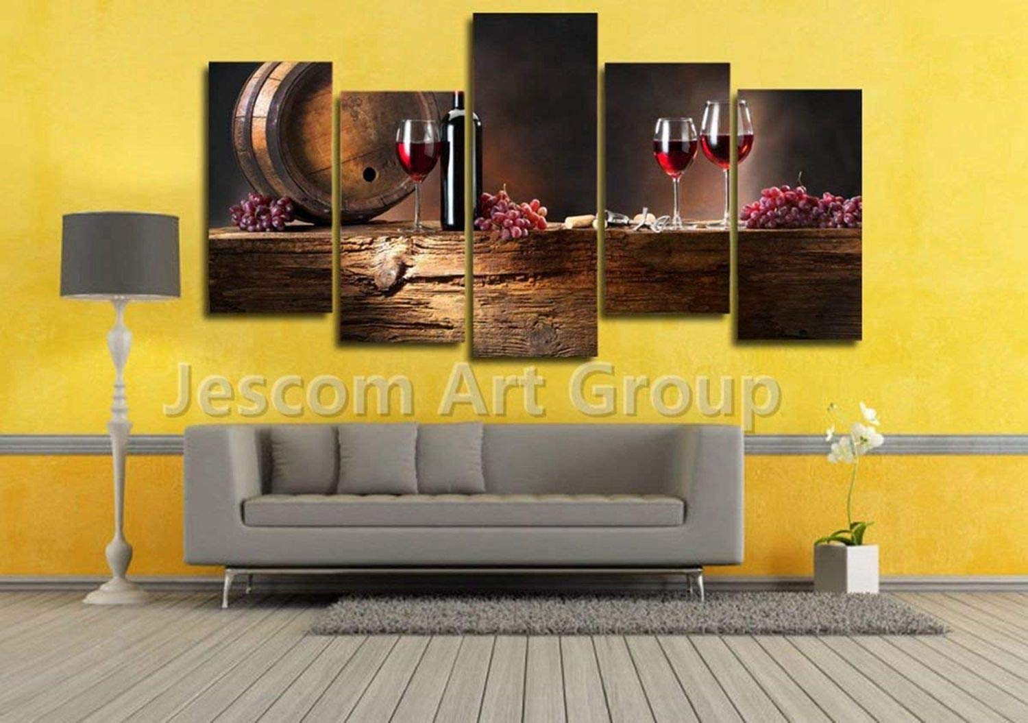 Amazon.com: JESC Scenery Painting Red Wine Grapes Canvas Modern Wall ...