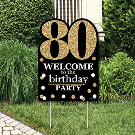 80th Birthday Decorations Posters