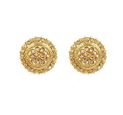 Amazon com: Ethnic Traditional Bollywood Fashion Gold Plated