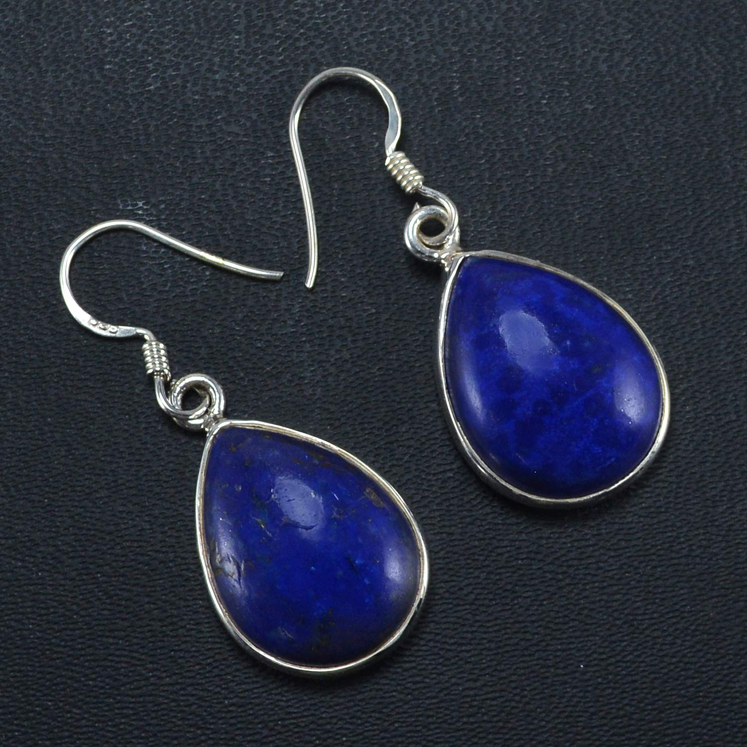 Saamarth Impex Lapis Lazuli 925 Sterling Silver Dangle Earring PG-155714