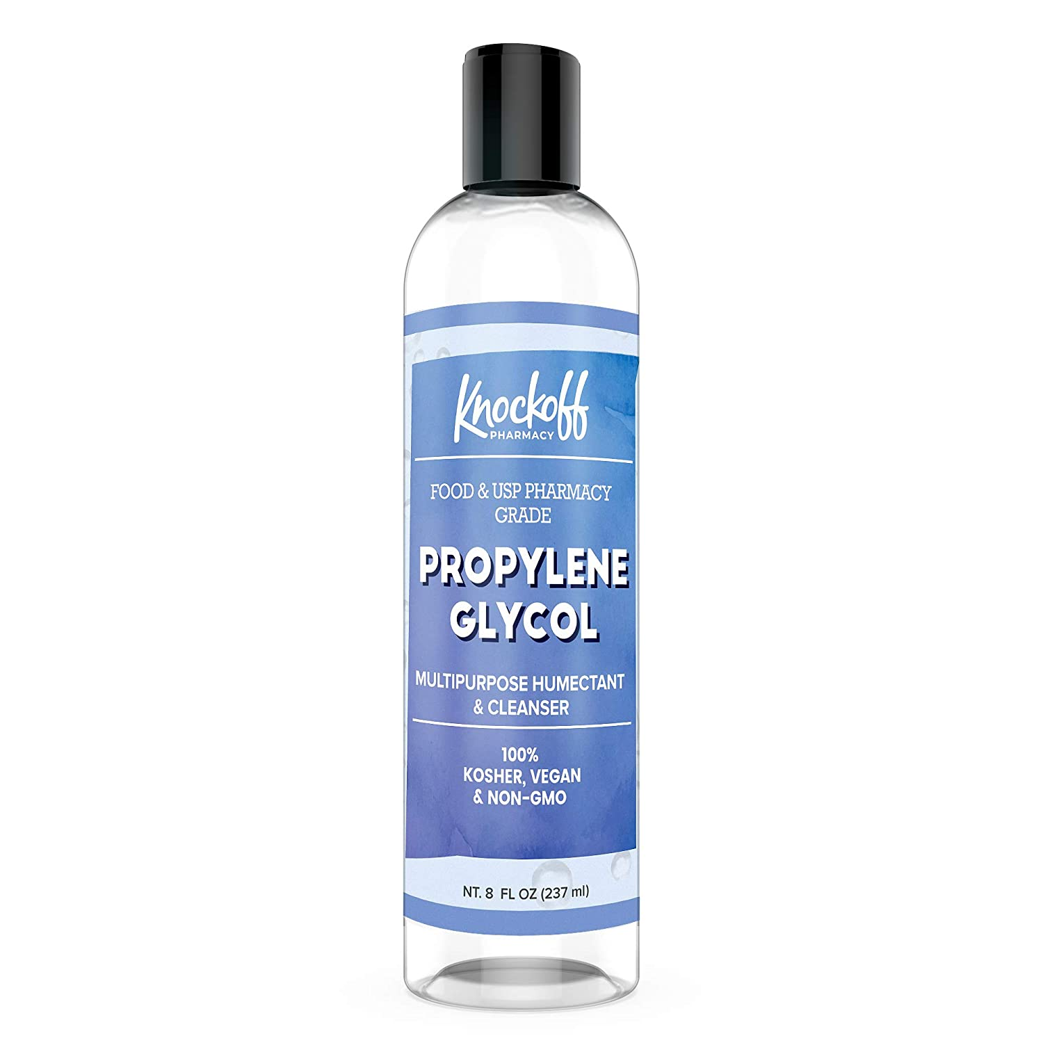 Propylene Glycol (8 oz) 100% Pure, Pharmaceutical Grade, Hypoallergenic Moisturizer & Skin Cleanser by Knock Off Pharmacy