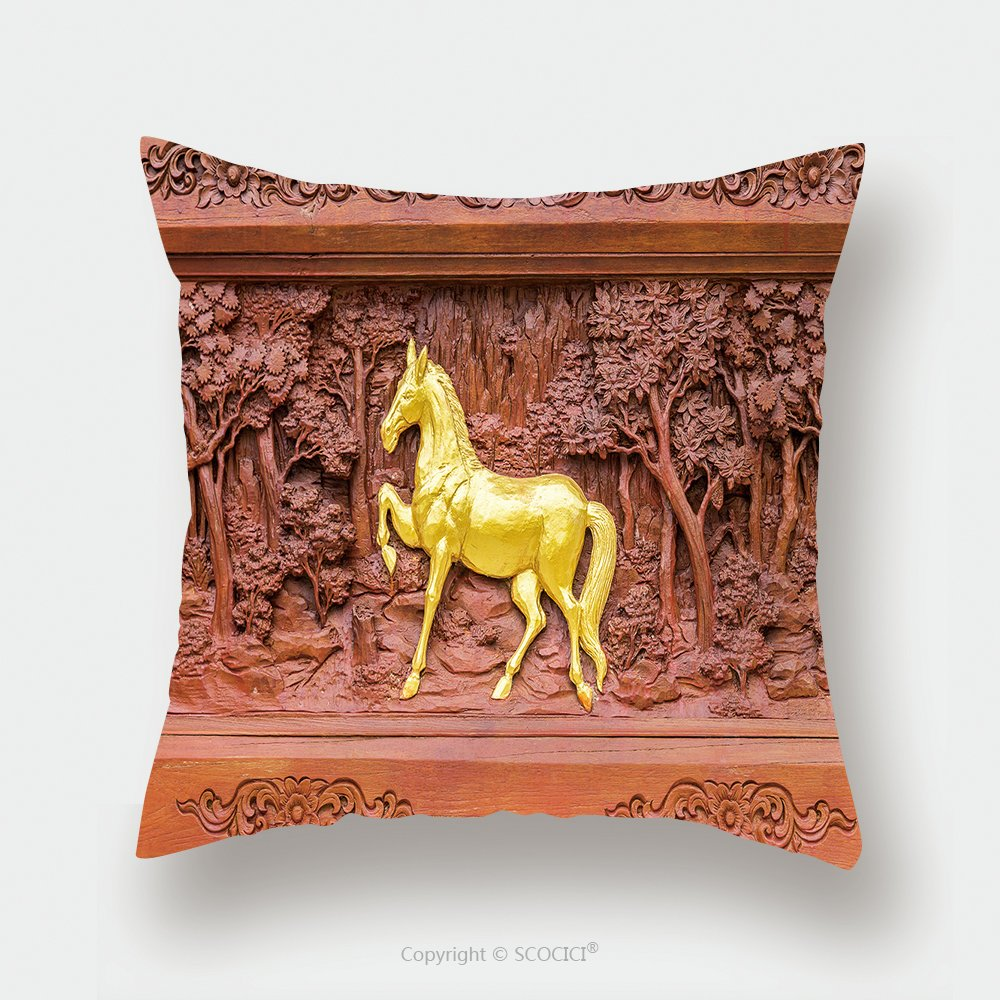 Custom Satin Pillowcase Protector Horse Wood Carvings In Thai Land 280648637 Pillow Case Covers Decorative
