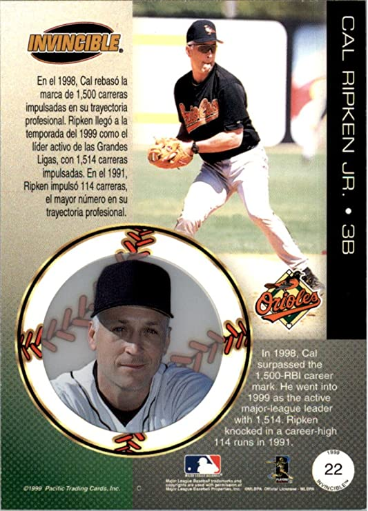 1999 Pacific Invincible #22 Cal Ripken - NM-MT at Amazons Sports Collectibles Store