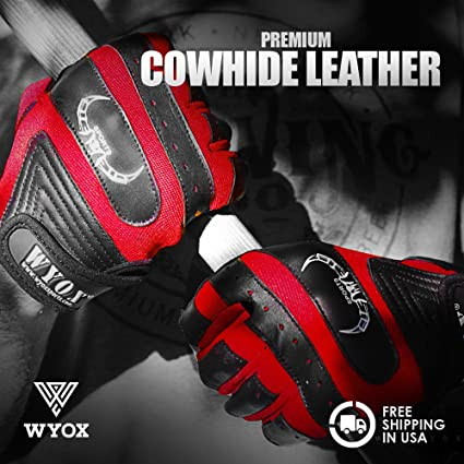 Amazon Wyox Anti Slip Cow Hide Leather Weight Lifting Gloves