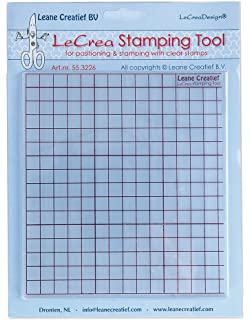 Leane Creatief Stamping Tool Grid Press For Clear Stamps 553226