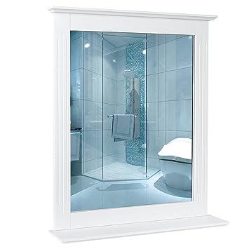 Homfa 57x68cm Wandspiegel Badspiegel Mit Ablage Hangespigel Spiegel