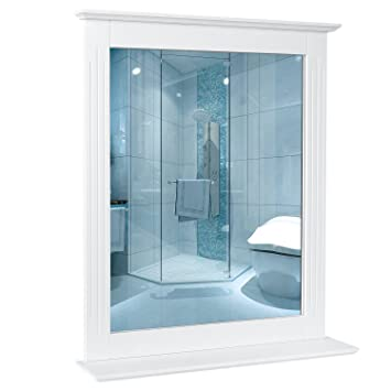 homfa miroir salle de bains miroir mural rectangulaire miroir de douche miroir maquillage pour salle de - Miroir Mural Salle De Bain