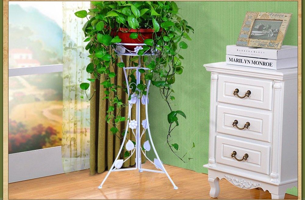 CivilWeaEU- Europäische Stil Blaume Rahmen Boden Stil Blaume Rack Indoor Wohnzimmer Blaumenregal -Regal Weiß 7839cm