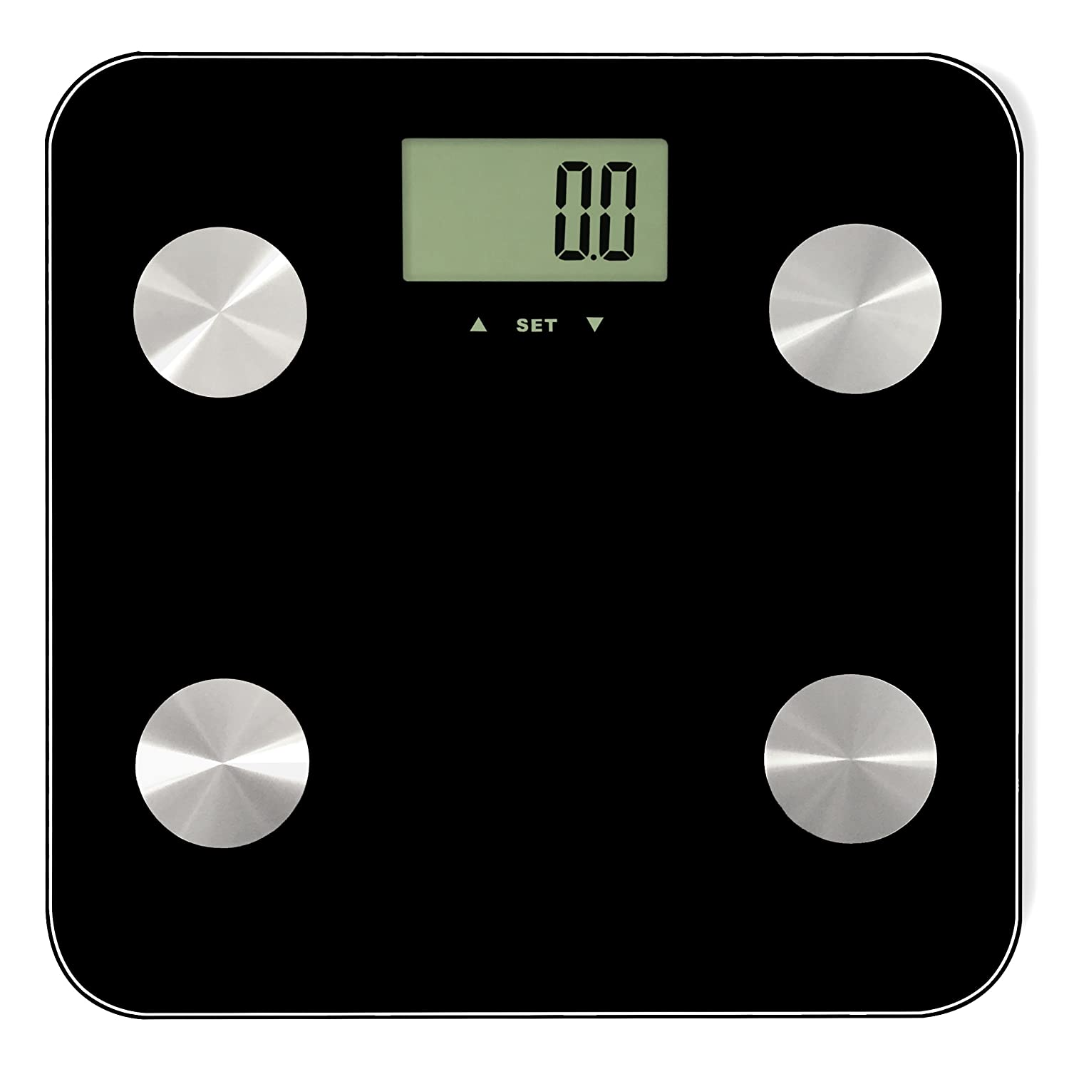 Home Treats High Accuracy Black Bathroom Scale with Body Fat, Hydration, Muscle Mass, Bone Mass Function and Smart Step On Technology by Home Treats: ...
