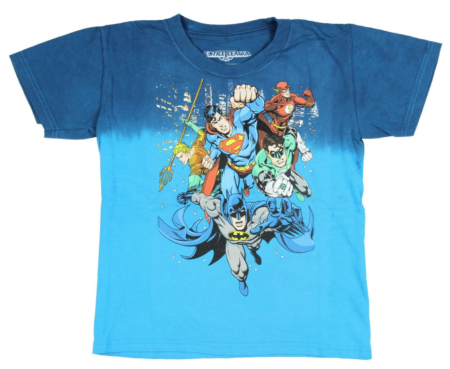 DC Comics Justice League Superman Flash Batman Aquaman Green Lantern T-Shirt MD