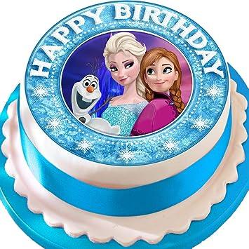 Frozen Anna Elsa Olaf Happy Birthday Bordure Vorgeschnittenen