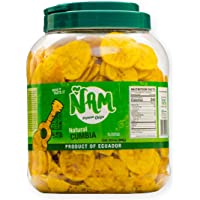 ÑAM Plantain Chips Natural Cumbia 28.4 Oz ( 800 g. ) Plastic Jar (Natural Cumbia, Pack of 1)