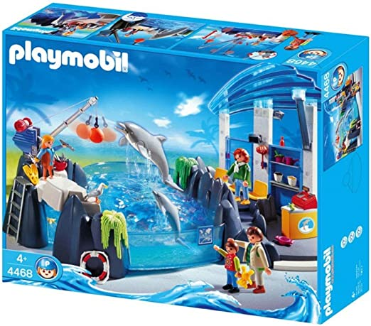 o1237 red cash register store basin dolphins 4468 Playmobil zoo