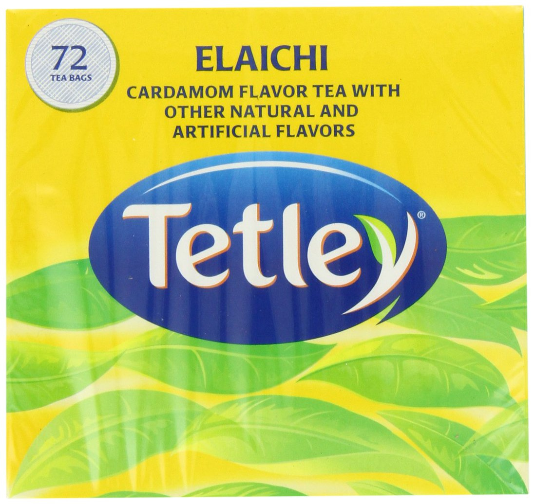 Tetley Tea, Elaichi (Cardamom), 72-Count Tea