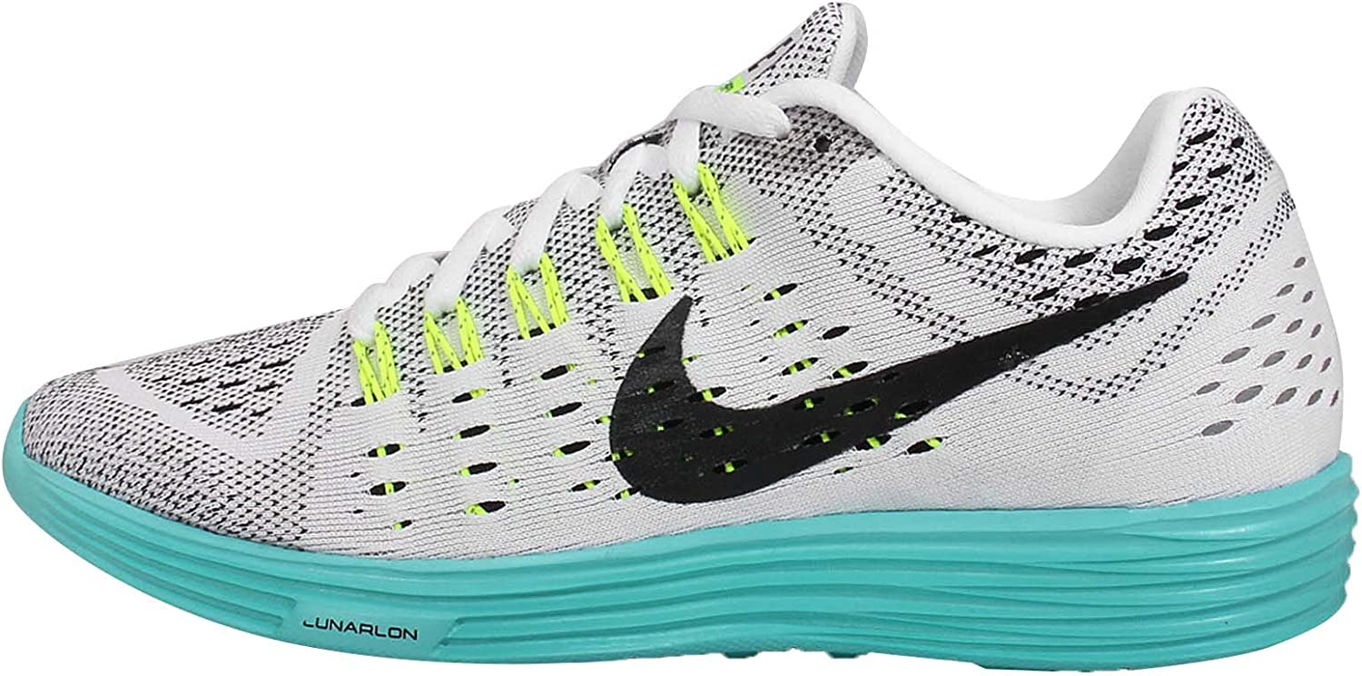Nike Womens Wmns Lunartempo, WHITE BLACK-VOLT-LIGHT AQUA, 7.5 US