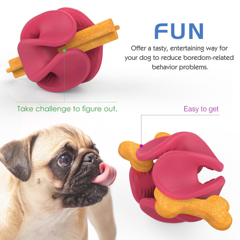 Pet Supplies Pawaboo Dog Treat Holder Ball Durable Flexible