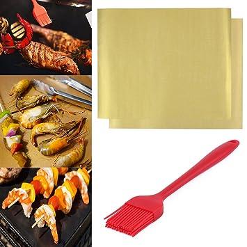 muxi nosotros, accesorios para barbacoa parrilla alfombrilla reutilizable resistente antiadherente resistente al calor barbacoa Grill