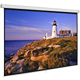 """Onebigoutlet 100""""inch 16:9 Manual Projection Screen Projector Matte White Home Movie Theater"""