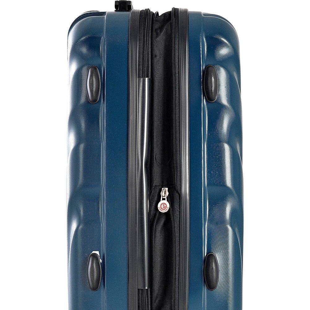 Olympia USA Vortex Hardside Spinner Luggage Set Charcoal Gray