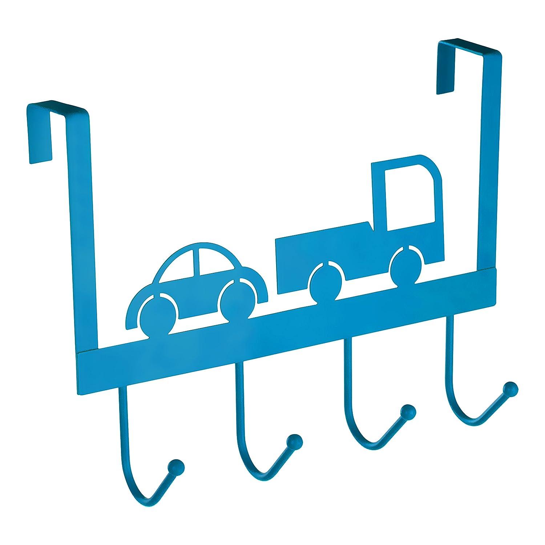 Premier Housewares 4-Hook Over Door Hanger, Blue 0509907