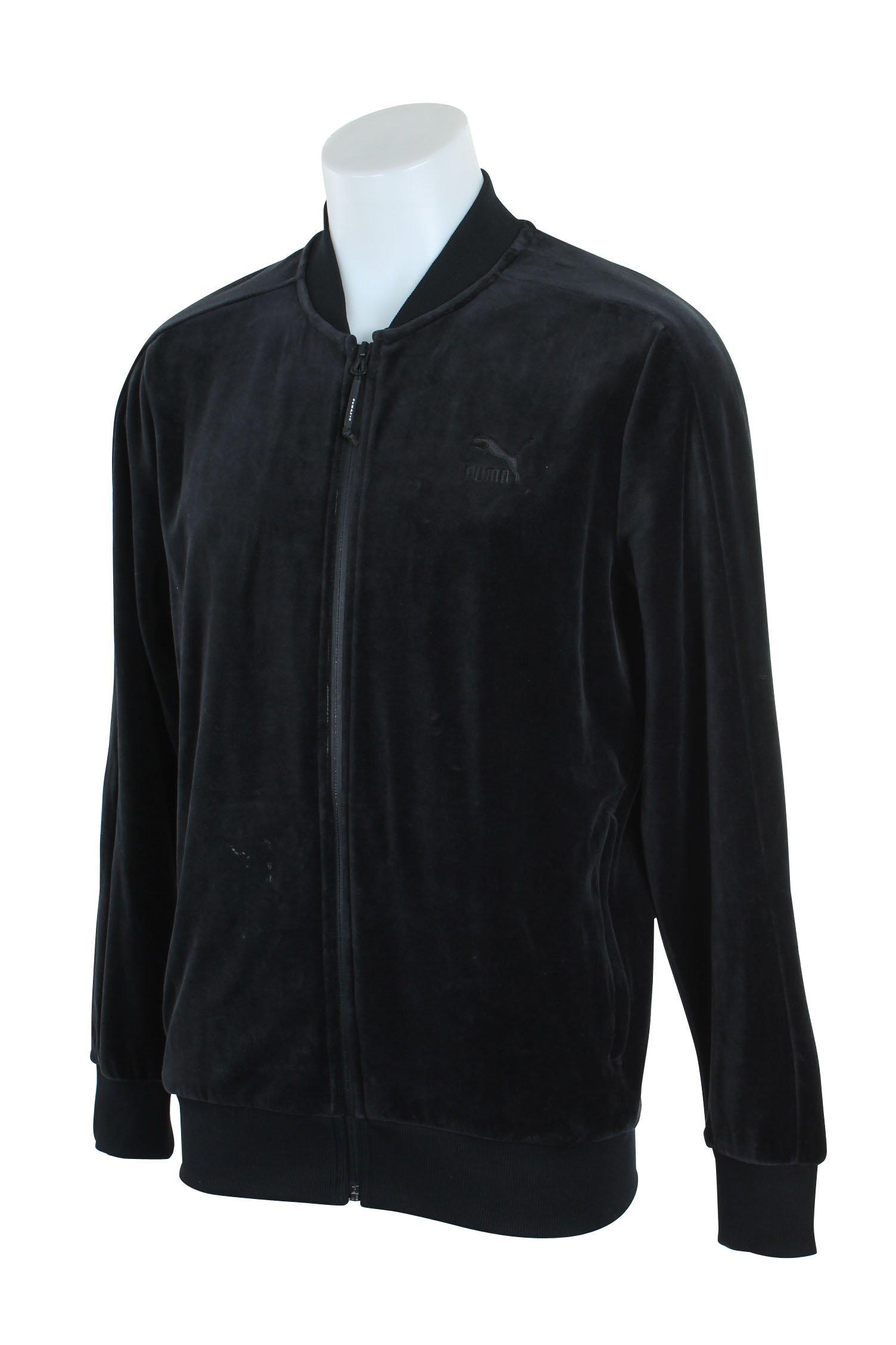 PUMA Men's Velour T7 Jacket, Black, 4XL