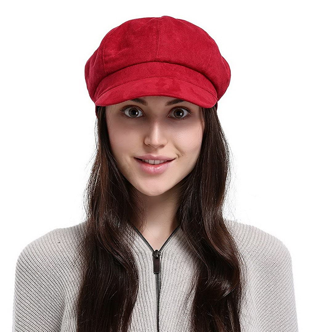 La Vogue Newsboy Cabbie Beret Cap for Women Beret Visor Bill Hat