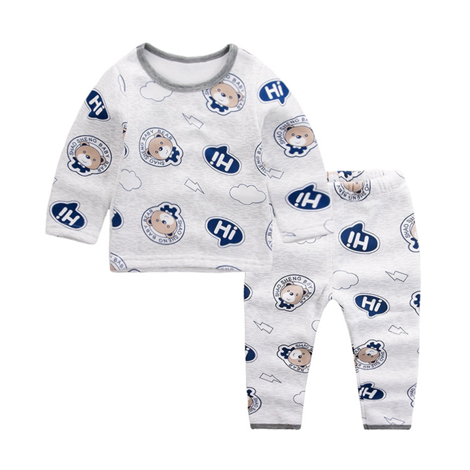 YADEER Little Boys Thermal Underwear Top and Bottom Set 1702FA03010
