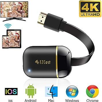 AN TV pour Le Nouveau Google Chromecast 3 pour Netflix Youtube Affichage WiFi HDMI Dongle sans Fil Miracast pour Android iOS PC pour Connexion WiFi Appareil WiFi
